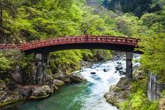 Red sacred bridge Shinkyo  Royalty Free Stock Image