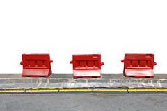 Red Safety Barrier Stock Photos