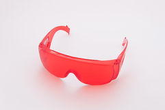 Red Safety Glasses Stock Image
