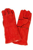 Red Safety Gloves Stock Image