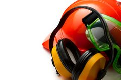 Red safety helmet Stock Photography