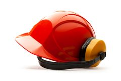 Red safety helmet Royalty Free Stock Photos