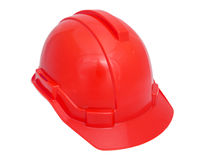 Red Safety helmet Stock Photo