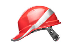 Red safety helmet Royalty Free Stock Photography