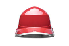 Red safety helmet Stock Images