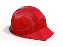 Red safety helmet Stock Photos