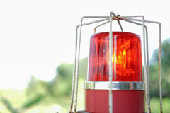 Red Safety. Police or ambulance red flasher siren safety warning light Royalty Free Stock Photography