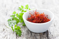 Red saffron Stock Images