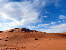 Red Saharan Dunes with Trails Stock Images