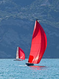 Red sail Royalty Free Stock Photos