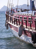 Red sailboat. In the harbor of Bodrum, Turkey Stock Photography