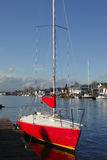 A red sailboat. Stock Photo