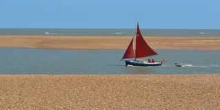 Red Sailed Boat Royalty Free Stock Image
