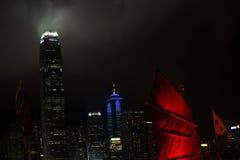 Red sailing Hong Kong Stock Photography
