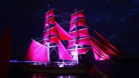 Red sails Royalty Free Stock Image