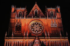 Red Saint-Jean Cathedral Stock Photos