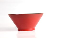 Red salad bowl isolated Stock Images