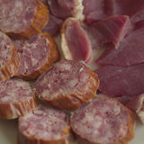 Red Salami Royalty Free Stock Photography