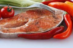 Red salamon Stock Photo