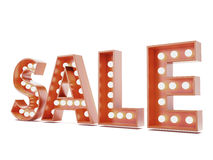 Red sale advertisment sign. Isolated on a white background. 3d render Stock Images