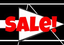 Red Sale Arrow For Websites. Great for sales and selling items Stock Photography