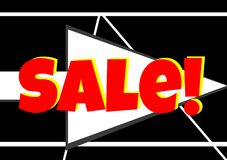 Red Sale Arrow For Websites. Great for sales and selling items Stock Photo