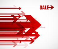 Red sale arrows. Royalty Free Stock Photography