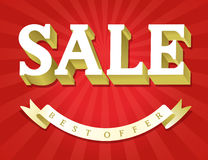 Red Sale background Stock Images