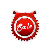 Red sale badge. Stock Photo