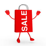 Red sale bag Stock Photography