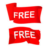 Red sale banner. On white background Royalty Free Stock Image