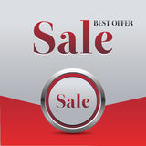 Red sale button Stock Image