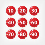 Red sale buttons Royalty Free Stock Images