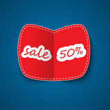 Red sale coupon Stock Image