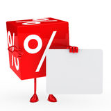 Red sale cube Royalty Free Stock Image
