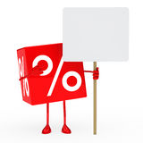 Red sale cube billboard Royalty Free Stock Images