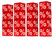 Red sale cube tower Royalty Free Stock Images