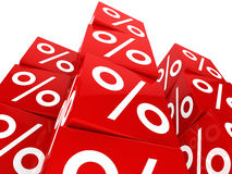 Red sale cube tower Stock Photography