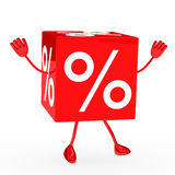 Red sale cube wave Stock Photography