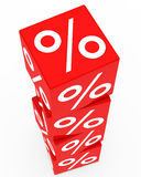 Red sale cubes tower Stock Photography