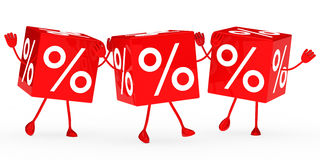 Red sale cubes wave Stock Photography
