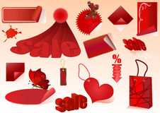 Red sale design elements Stock Images