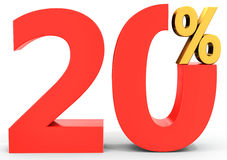 Red sale discount 20 percent Stock Photography