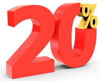 Red sale discount 20 percent Royalty Free Stock Photo