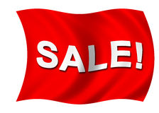 Red Sale flag Royalty Free Stock Photos