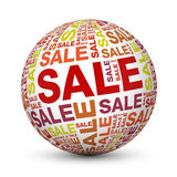Red sale globe Stock Photo