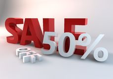 Red Sale 50% Stock Photography