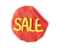 Red Sale Label Stock Image