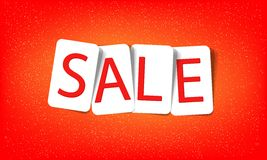 Red sale message. Word sale on a red background Stock Photos