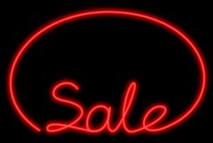 Red sale neon royalty free stock photography